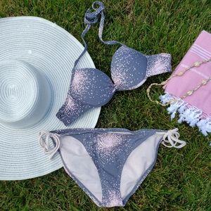 Firework Galaxy Gray & Pink Bikini